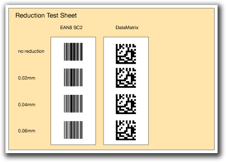 PDF barcode check with ChkBarcode, example with bar width reduction