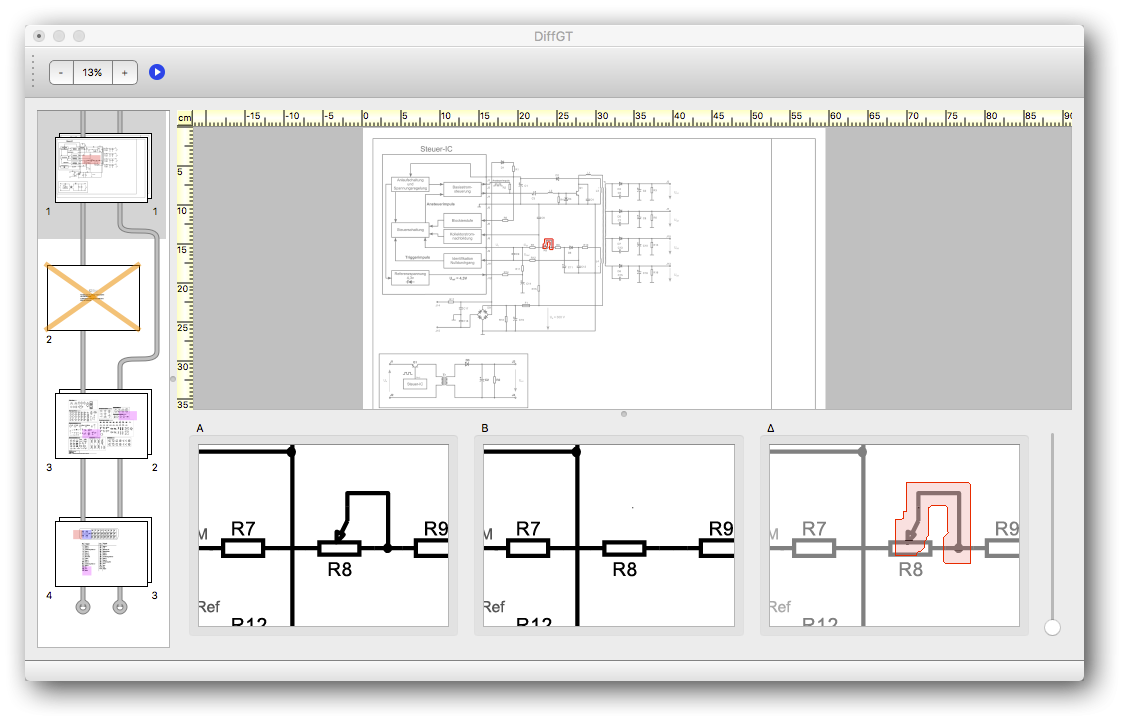 Diff GT: PDF comparison for circuit layouts and technical drawings