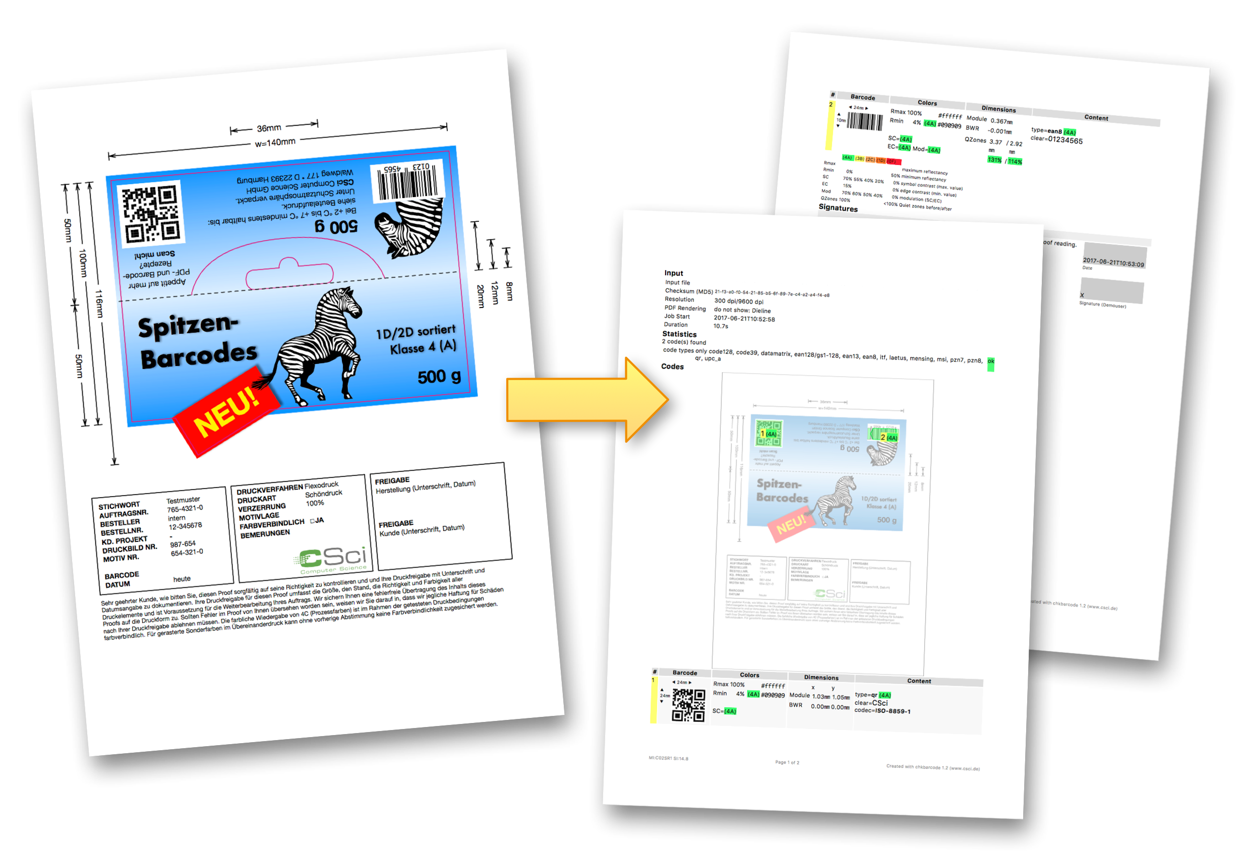 Barcode Verification barcode check in pdf files with chkbarcode from csci | pdf