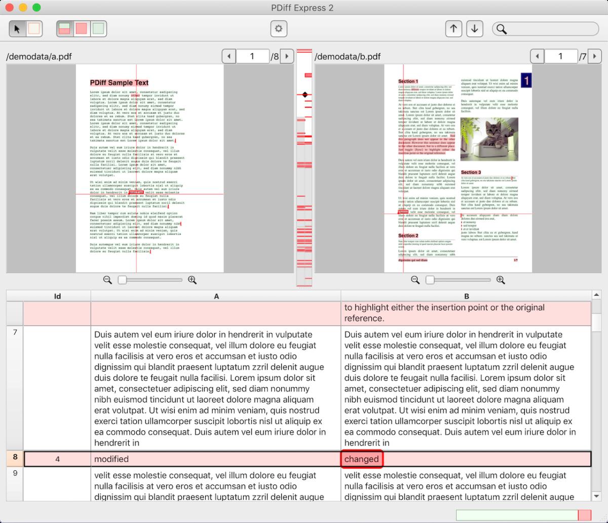 zwei pdf dokumente vergleichen